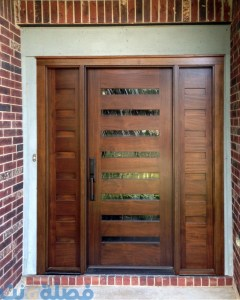 أبواب خشب مودرن