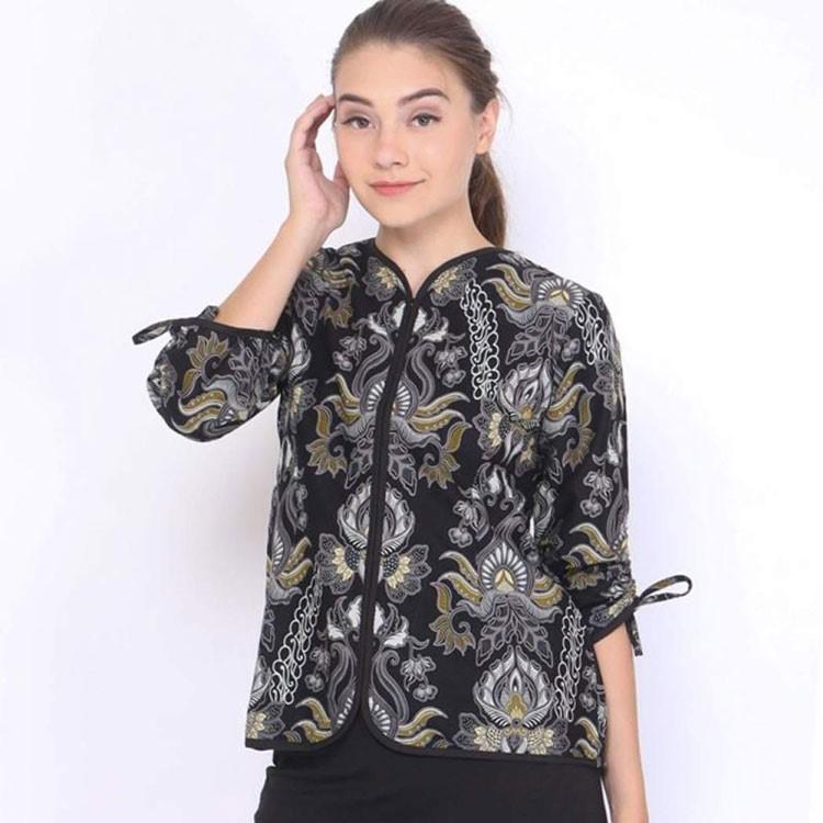 model baju batik kantor atasan wanita