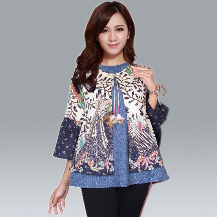 Referensi Model Batik Kerja: 30 Model Baju Kerja Batik Atasan Terbaru