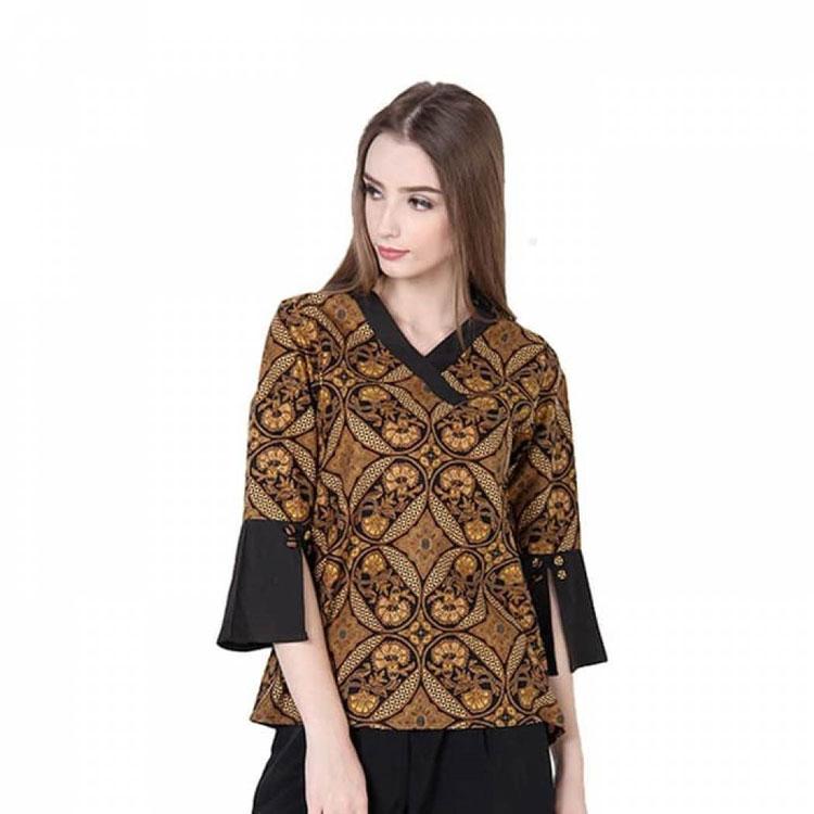 Model Kemeja Batik Wanita Bahan Katun: 30 Model Baju Batik Atasan Guru