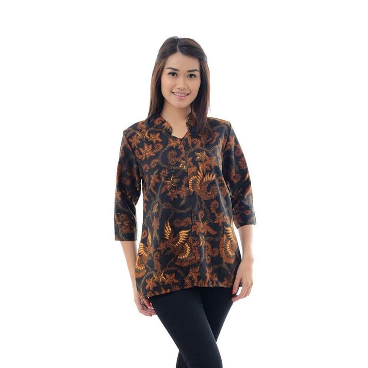 Model Baju Batik Terbaru: 30 Model Kerah Baju Batik Wanita Terbaru