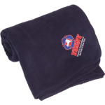 Blanket- Navy with Embroidered Logo