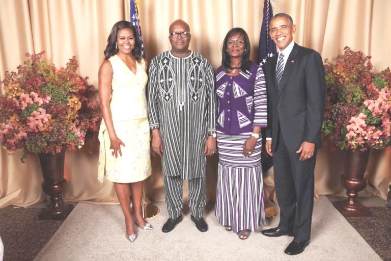 la famile présidentielle burkinabè avec celle américaine