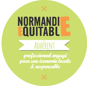 Badge d'adhérent de Normandie Equitable