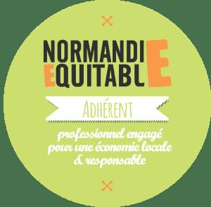 Badge d'adhérent de Normandie Equitable