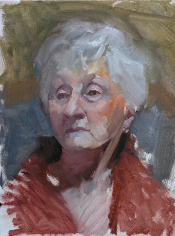 "Portrait Study of Rose Grafton by Robert Paulmenn Oil ~ 16"" x 12"""