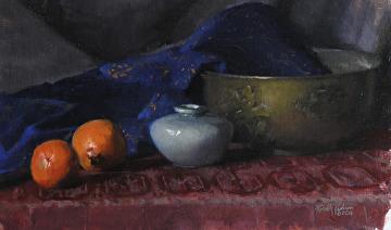 "Brass Bowl by Robert Paulmenn Oil ~ 12"" x 20"""