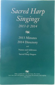 Front cover of the 1976 minutes of the Sacred Harp minutes and directory.