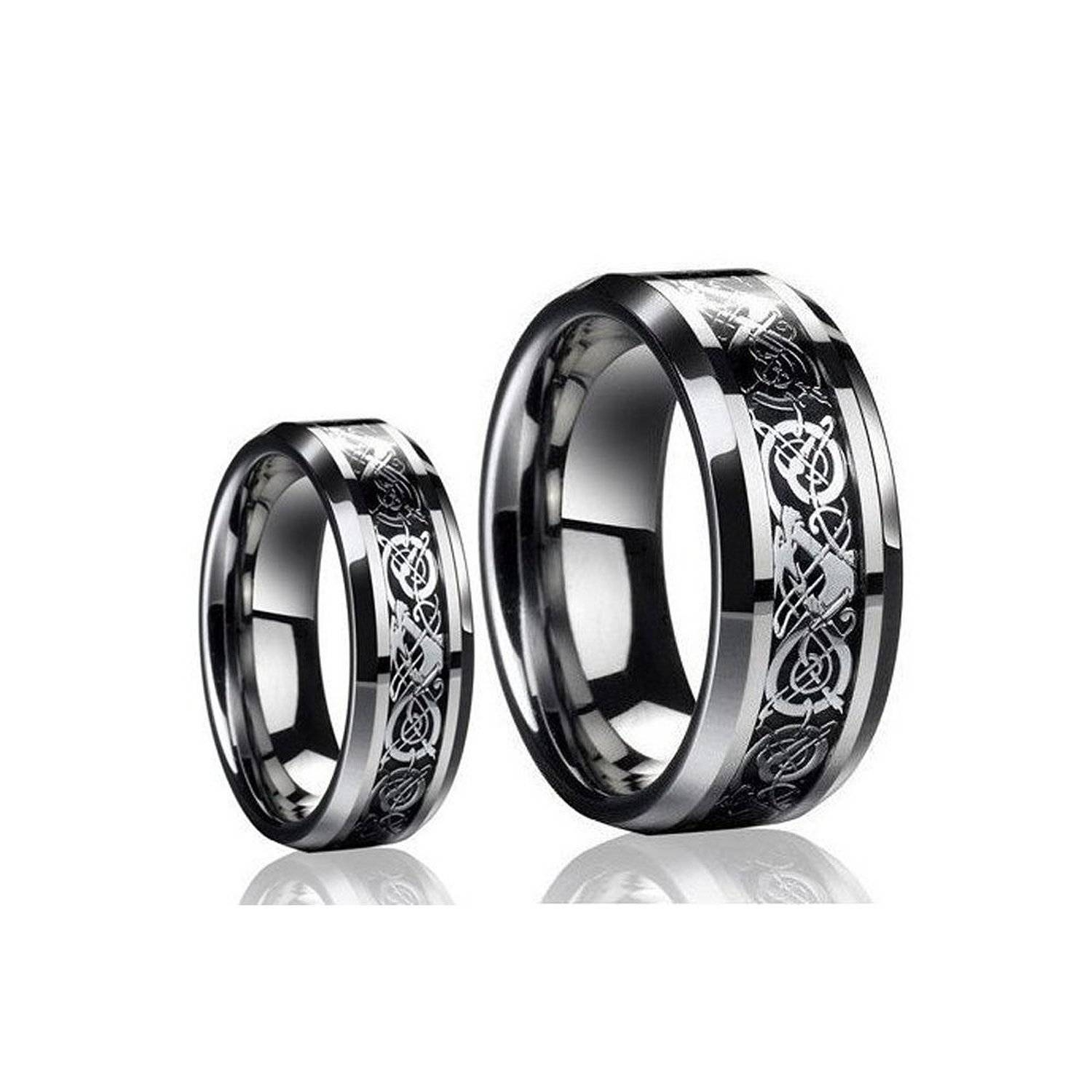 15 Best Collection Of Black Titanium Wedding Bands Sets