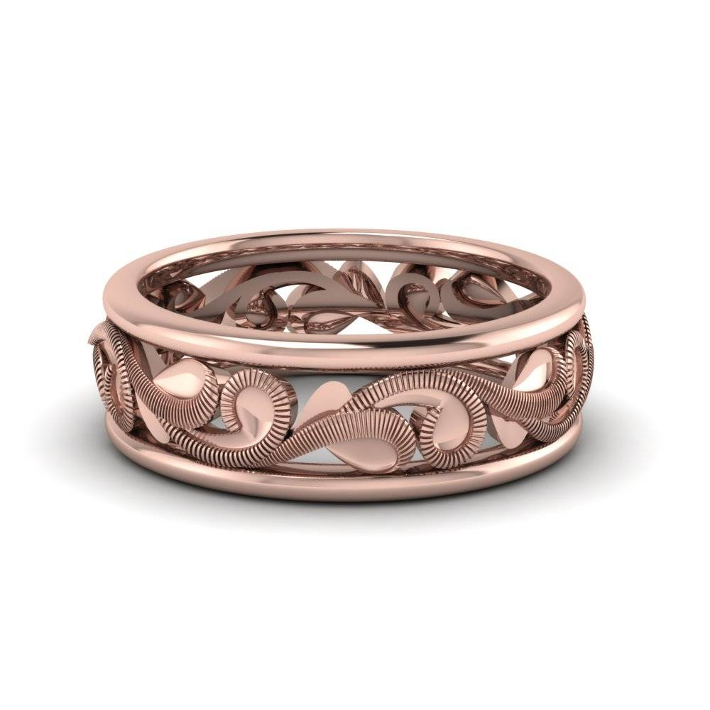 15 Best Ideas Of Rose Gold Mens Wedding Bands With Diamonds