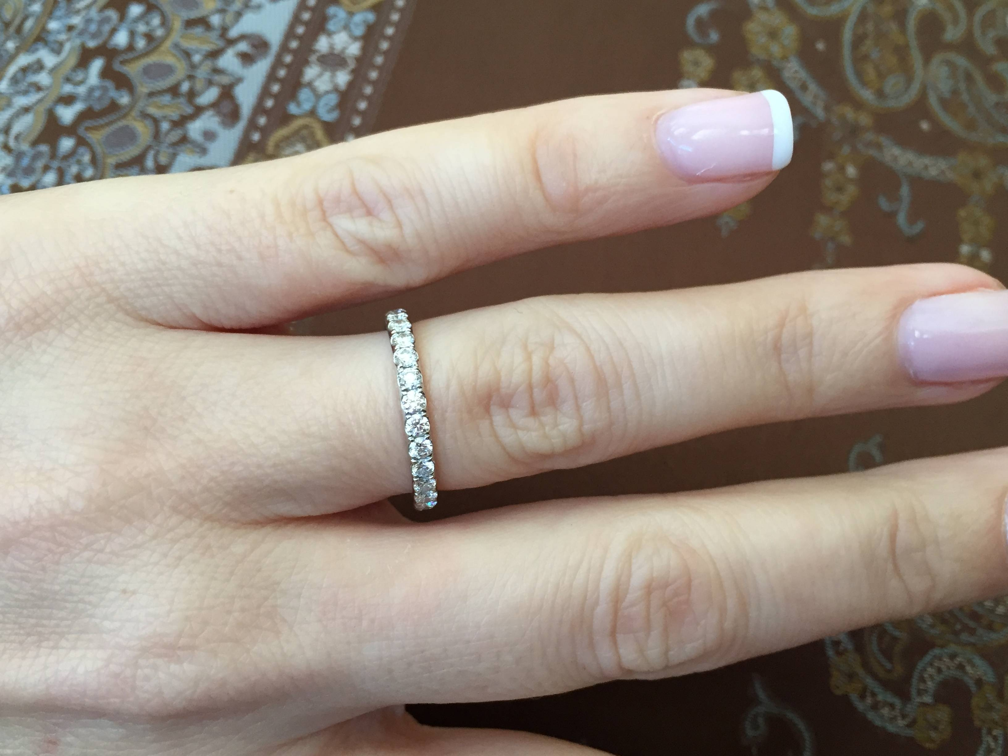 15 Photo Of French Pave Wedding Bands