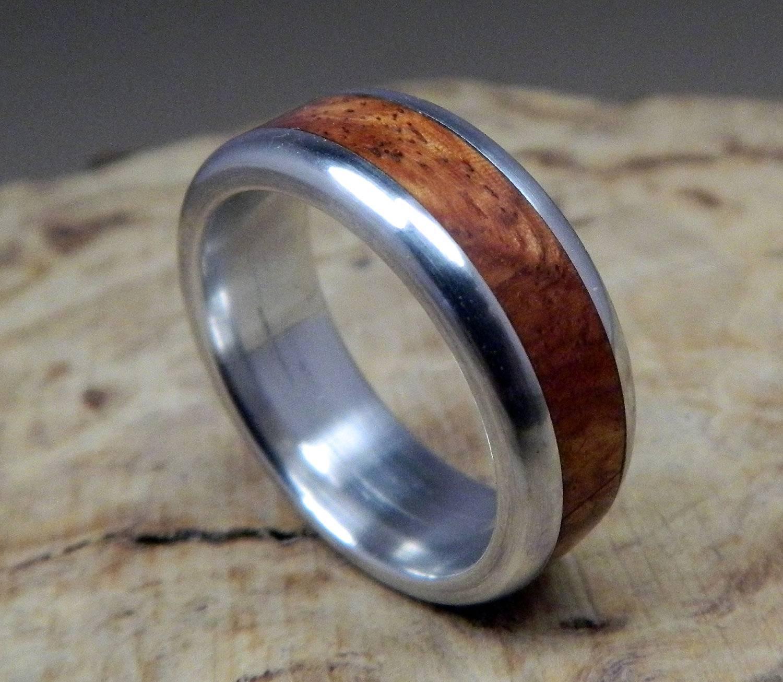 15 Inspirations Of Mens Wedding Bands Wood Inlay