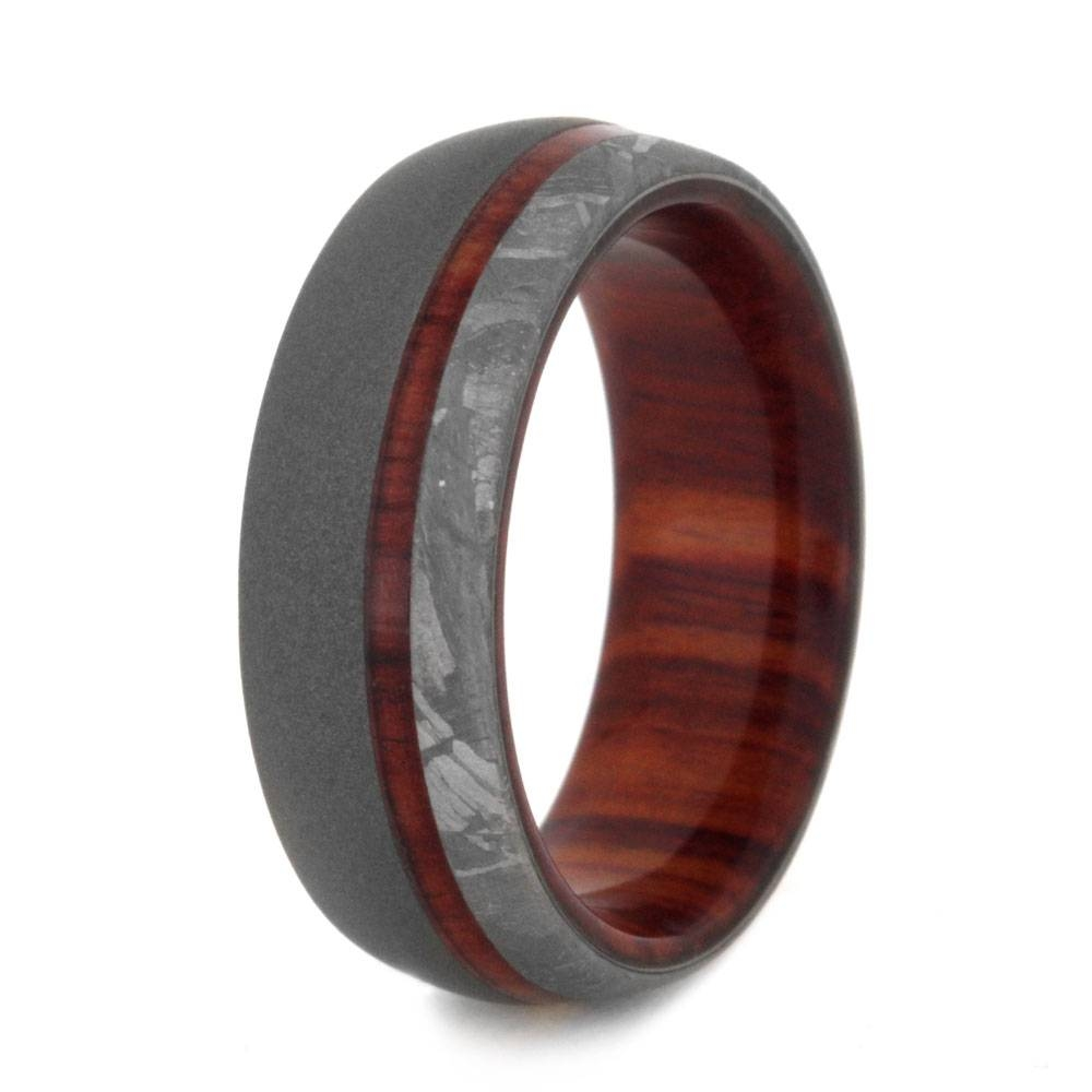 15 Ideas Of Mens Wedding Bands Meteorite