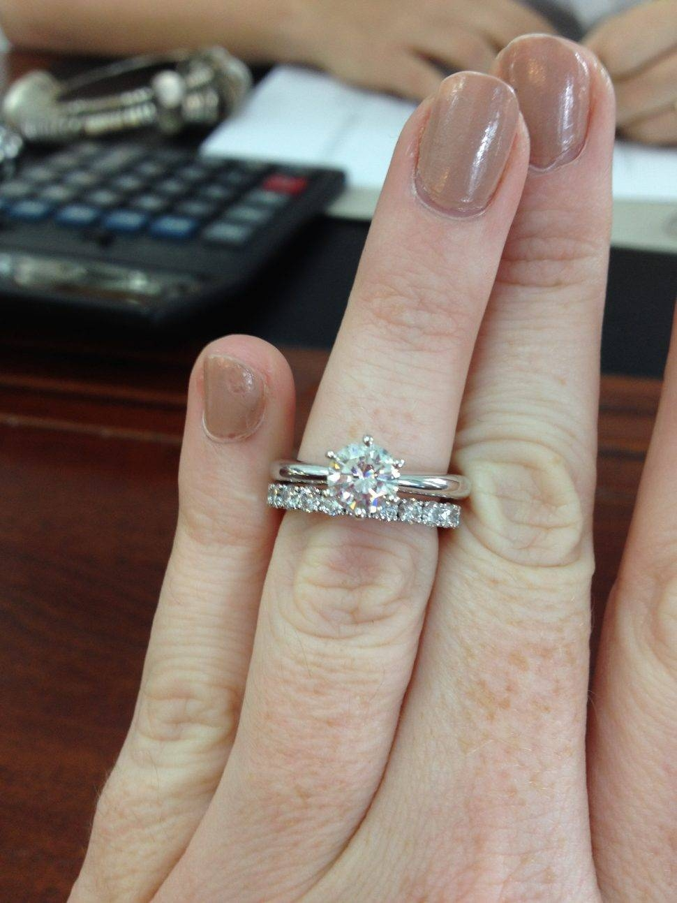 15 Inspirations Of Wedding Bands For Round Solitaire