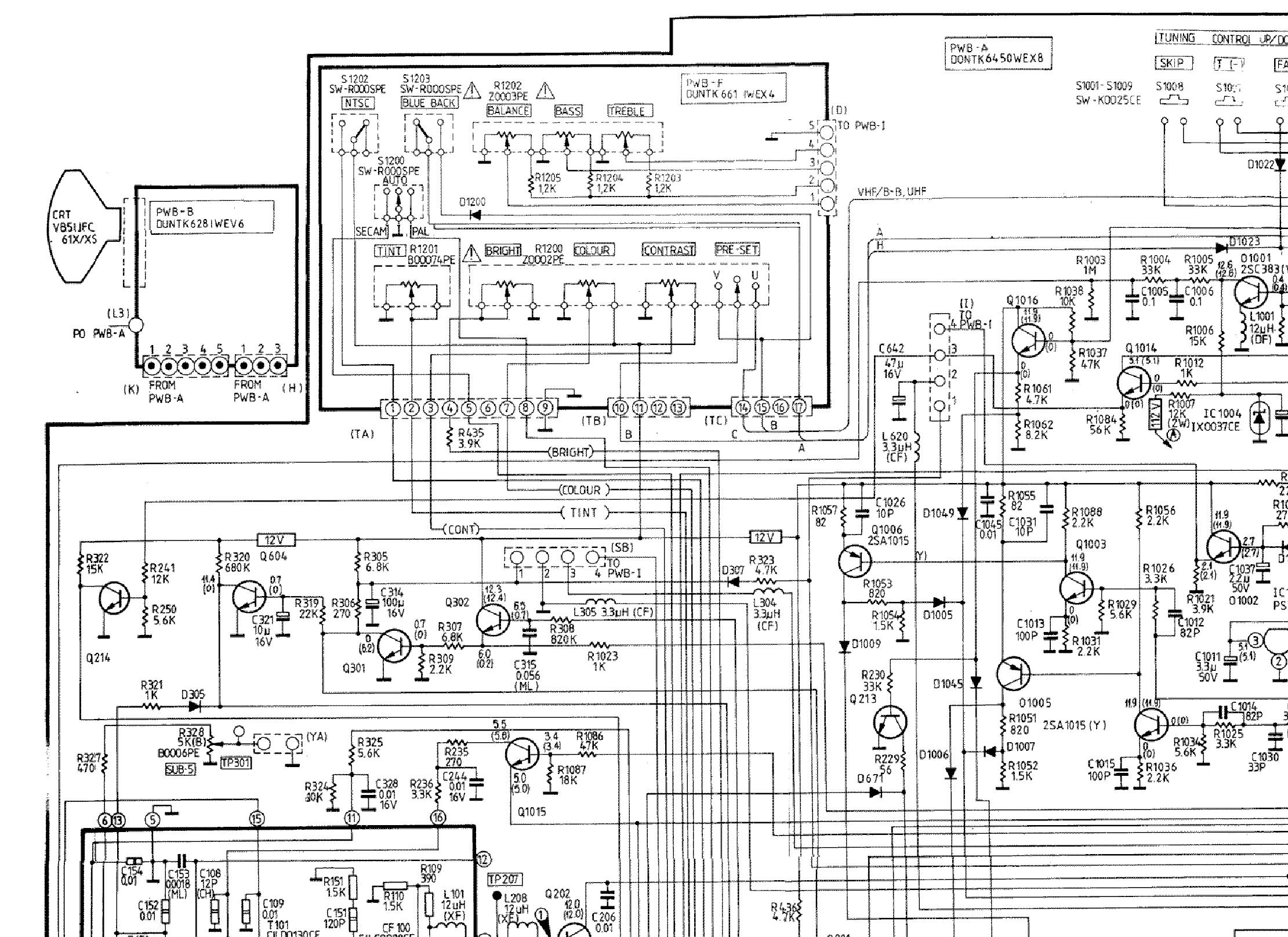 Schematic Diagram Crt Tv Sharp