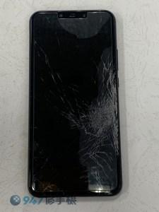華為 NOVA 3i 摔機後被好幾台車輾過 螢幕面板破裂 不顯示了! 華為 手機維修