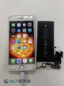 不開機的 iPhone 6s Plus 找出兩種症頭 需要 更換電池跟尾插充電模組呢!! iPhone手機維修