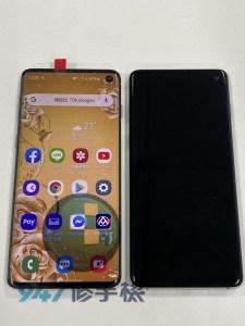 Samsumg s10 觸控面板的螢幕顯示跟觸控都壞掉了,運氣怎麼這麼差!! 三星手機維修
