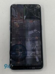 OPPO AX7~走路跌倒就算了面板還被車子輾過!!!我的OPPO手機維修