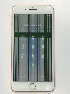 IPHONE8 PLUS出現窗簾式線條,畫面深色更為明顯!? IPHONE手機維修