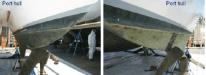 2009 Sept – Painting the Topsides