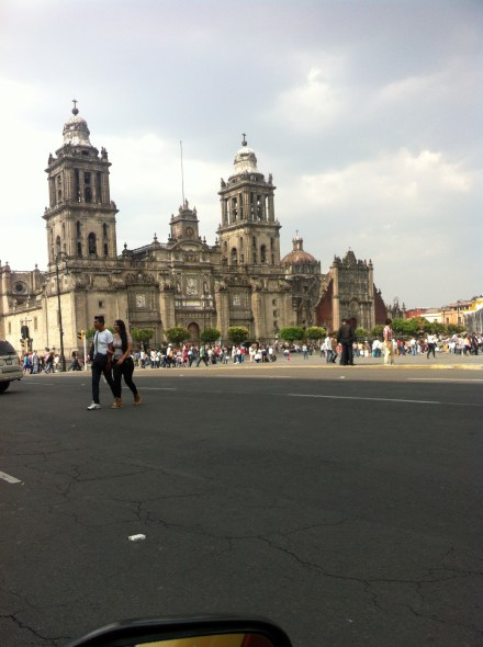The Cathedral stands to one side of the huge plaza - its the biggest city square I have seen so far in Mexico