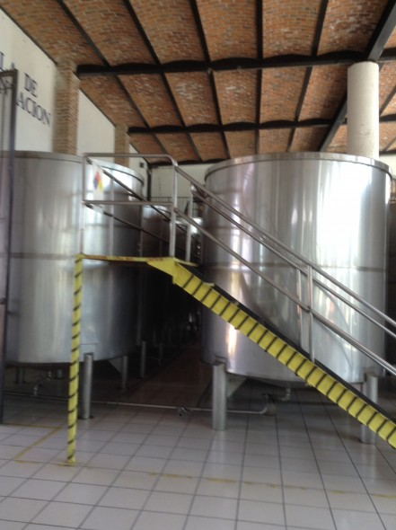 Vats used for the fermentation process