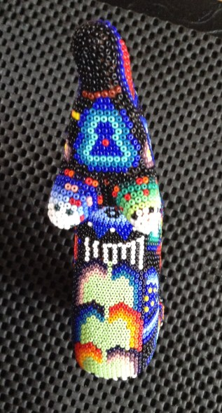 Little wolf aerial view - corn along its back.   Blue icon with red dot is the deer symbol