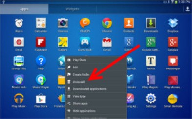 Guide to uninstall apps on Samsung Galaxy S3 Tab