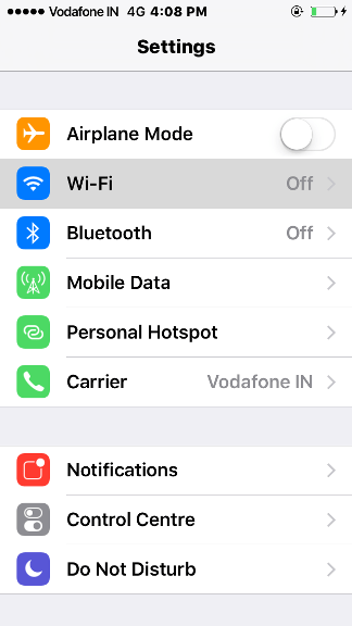 How to connect WiFi in iPhone