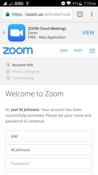 How to use Zoom.us app