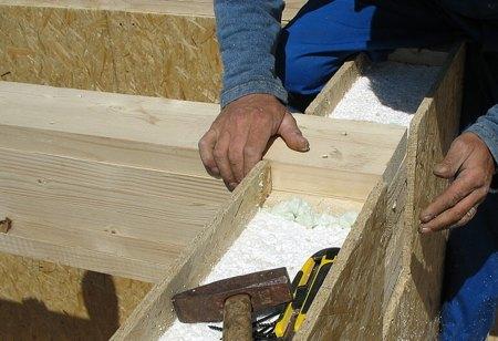 Arrangement af taget i huset fra SIP-paneler