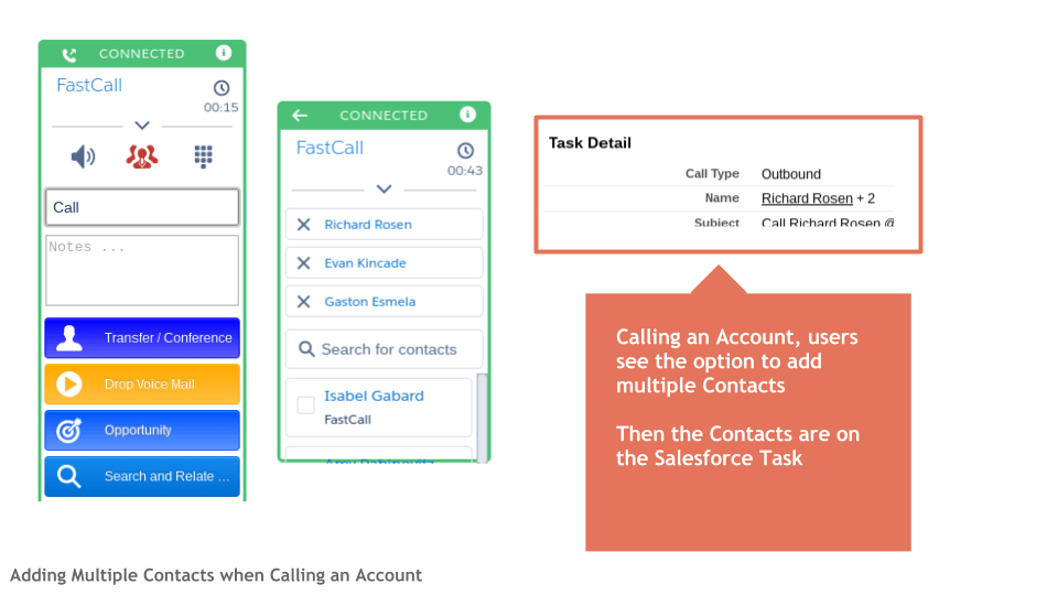 Adding Multiple Contacts when Calling an Account
