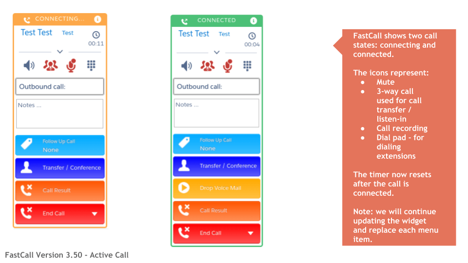 FastCall Version 3.50 - Active Call