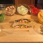 Chicken Pita Bread with Hummus