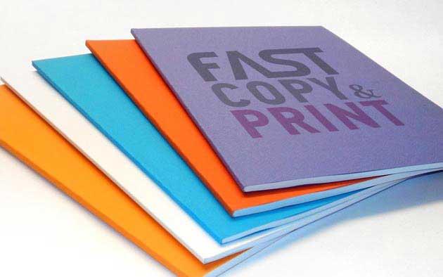 εκτυπωμένα και βιβλιοδετημενα τεύχη πτυχιακής εργασίας σε διάφορα χρώματα