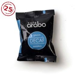 Estuche de 25 cápsulas café arabo - Descafeinado