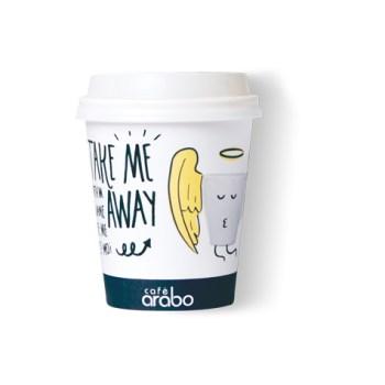 Vaso de papel mediano Take away Café arabo