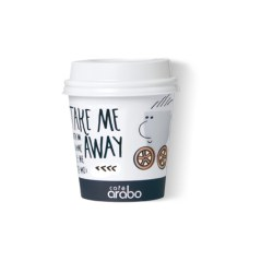 Vaso de papel mediano Take away Café arabo