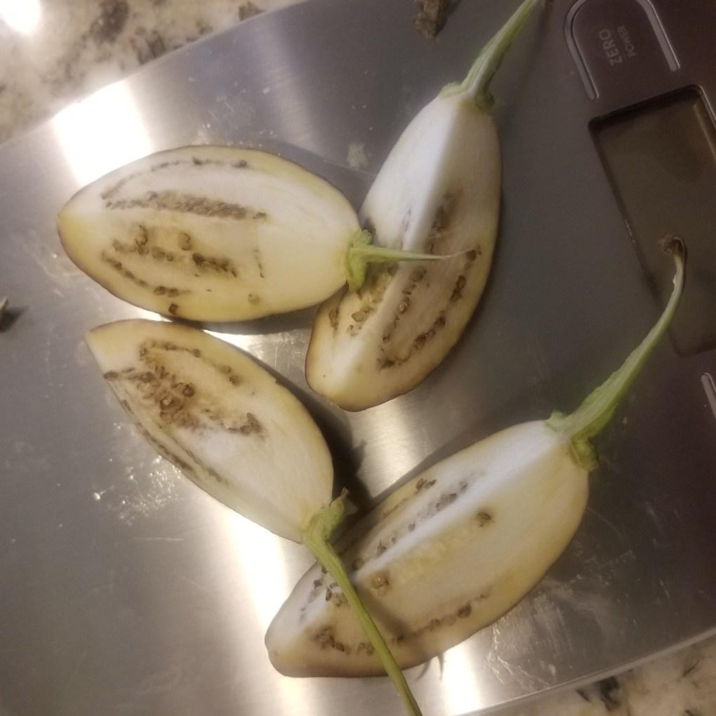 eggplant cut