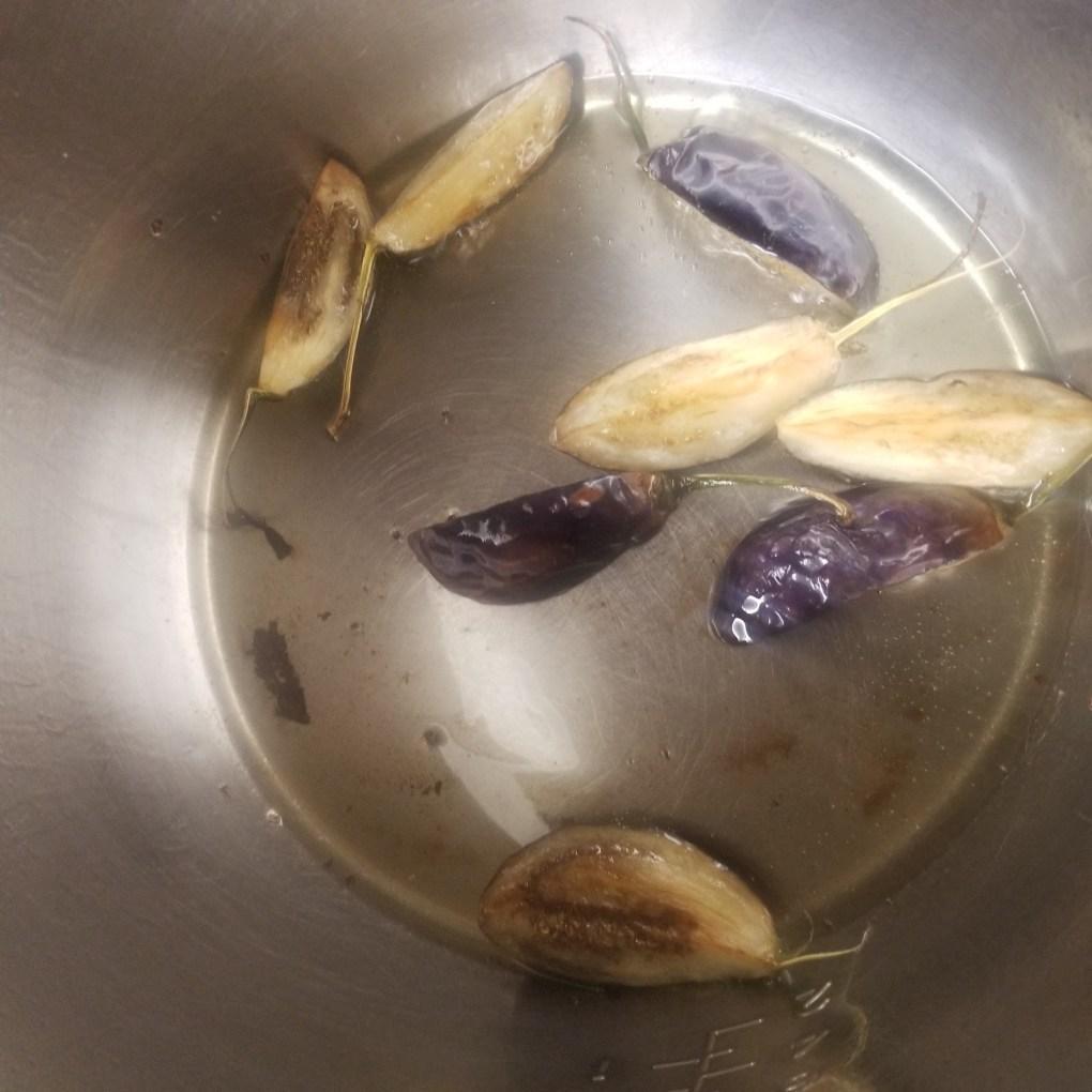 saute eggplant in instant pot