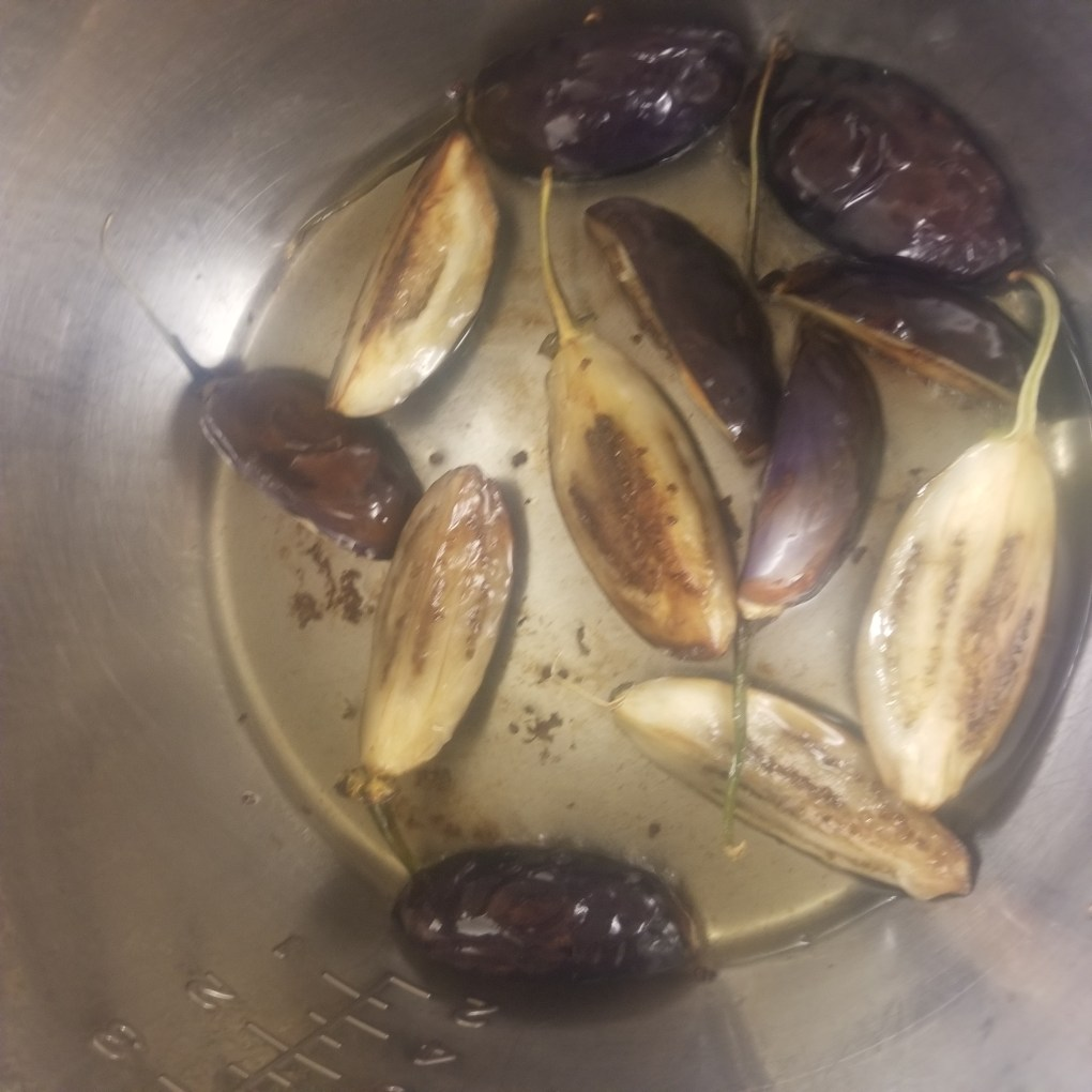 saute eggplant for kashmiri baingan