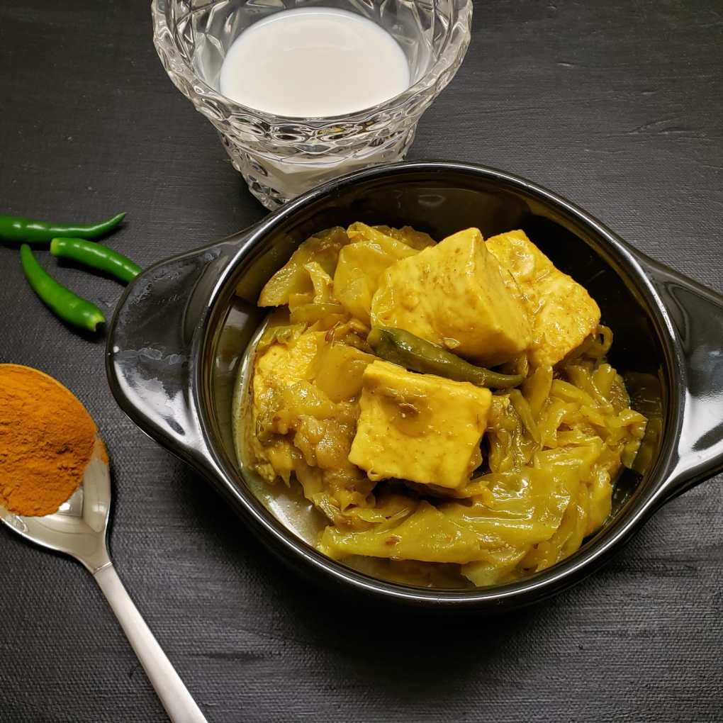 paneer cabbage curry