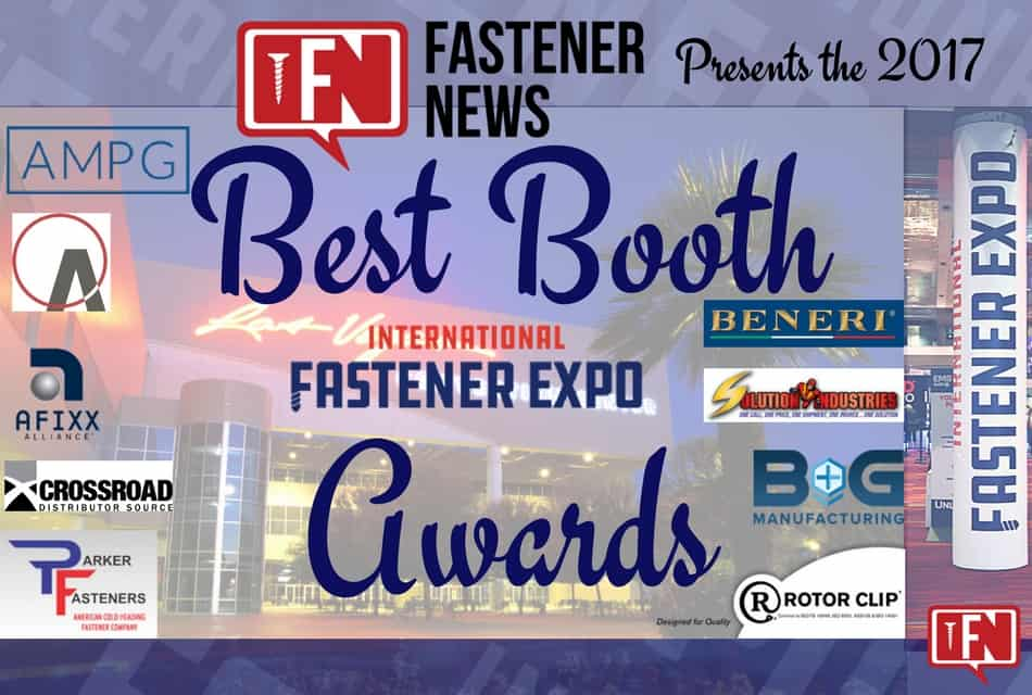 Fastener News Desk Announces The 2017 Best Booth Awards Winners!