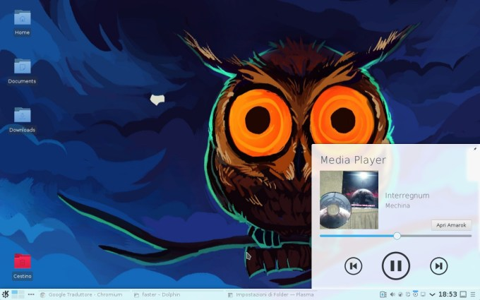 Media Player on System Tray