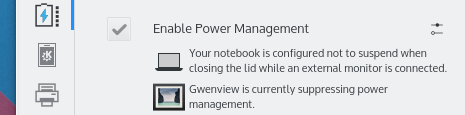 Improved Power Manager plasmoid