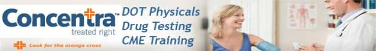 Concentra Medical DOT Physicals - Truck, Bus, Aircraft, Locomotive.