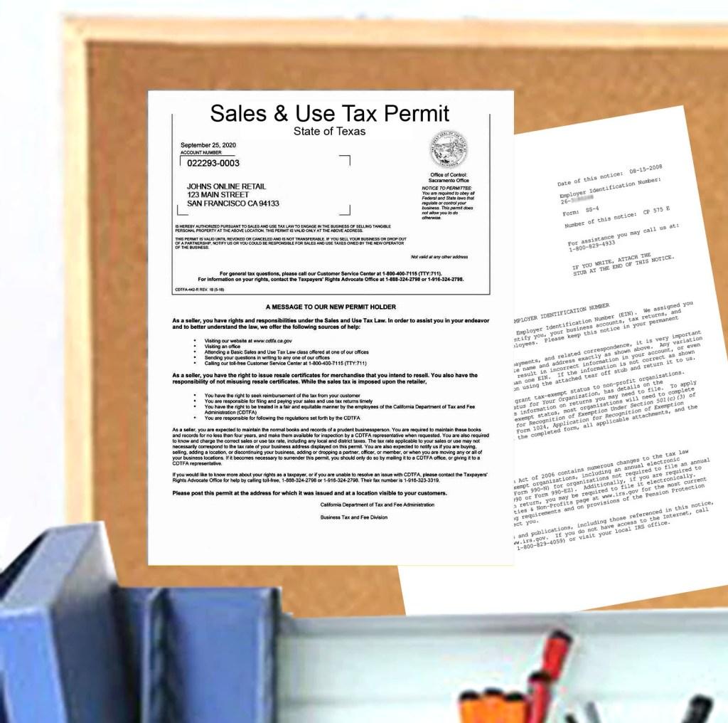 TX Sellers Permit