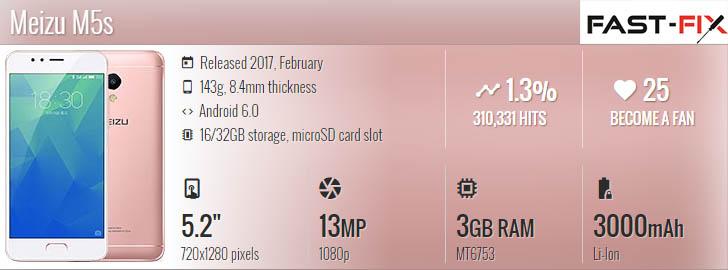 Ремонт Meizu M5s