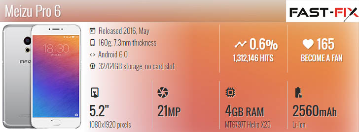 Ремонт Meizu Pro 6